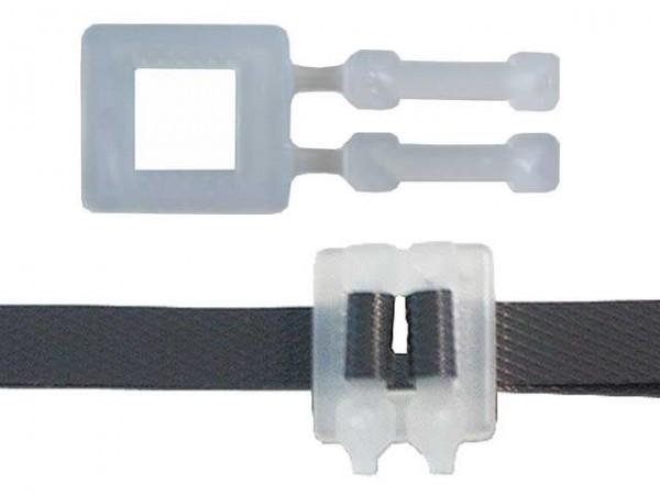 Kunststoffschnallen 13 mm transparent