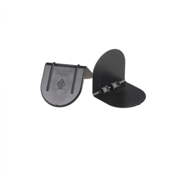 Kantenschutzecken ohne Dorn aus Kunststoff, schwarz